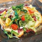 レシピ 〜 お赤飯のピザ