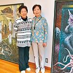 仲良し姉妹 40年ぶり作品展 「オッキ」こと稲垣紀子さん 「チッキ」こと堀憲子さん