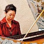 バロック音楽 隠れ家庭園で チェンバロ奏者 野澤知子さんら演奏