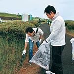太洋工業が河川敷清掃