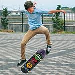 子ども版 〜 西日本最年少プロ スケートボーダー 岩出二中2年の平松 凱君「海外で活躍できる選手に」