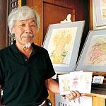 日本三景に勝る眺望知って 紀三井寺の絵はがき完成  中尾安希さんの淡彩画元に