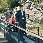 みんなにやさしい和歌山城を 天守閣下へスロープ増設