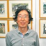 建築士描く美しい街並み 川村眞次さん 自宅ガレージで展覧会