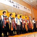 信愛高校ソフトテニス部 三冠達成祝賀会に290人