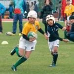 目指せラグビー日本代表 子ども向けスクール W杯効果で新入会者増