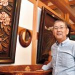 木彫で自然、生活感表現 和歌山市の池尾英之さん 農民美術収集品公開