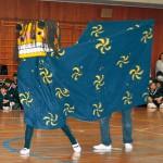 加太小 大迫力の獅子舞披露