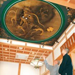 迫力の天井画 「雲龍」清水達三さん 法然寺に奉納