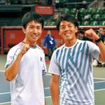 全日本テニス選手権 長尾克己選手 ダブルスでV