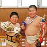 少年相撲〜西出選手 全国優勝、中西選手 国際準V