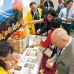 和歌山の柿 米国輸出目指し試食会