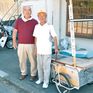 愛知の鈴木康吉さん 手押し車と日本一周