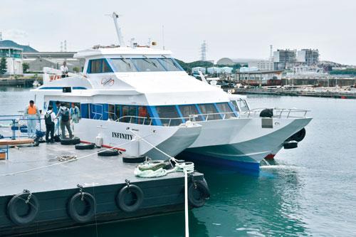 深日〜洲本 期間限定旅客船