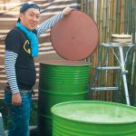 紀の川市 農家民泊にドラム缶風呂