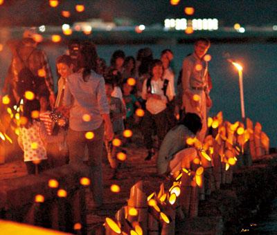 竹燈夜in妹背山〜観月会