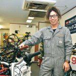 ぶらくり丁で地元青年が自転車店開業