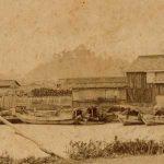 紀州百景⑥ 鼠島から望む和歌山城(明治)