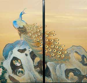 ホール展示「文化財を守る─和歌山市寂光院の襖絵」
