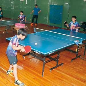 卓球で目指せ 日本代表 小中学生の教室が人気