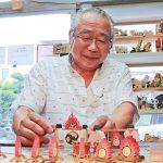 和歌祭 木工作品で再現中 𠮷田富彰さんが制作