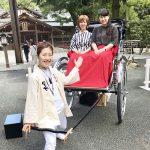 和歌山城巡る人力車