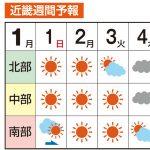 天気予報 和歌山市は近畿中部? 南部?