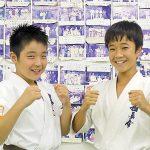 新極真空手全国大会 小・中学生2人が入賞