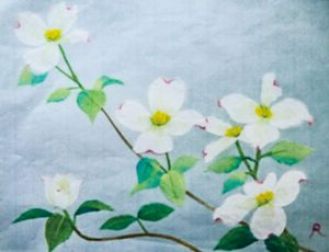 万葉の花々 和紙ちぎり絵展
