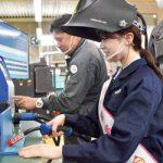 AKB永野さん 職業訓練を体験