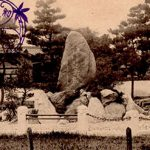 紀州百景〜岡口門前の石碑とクスノキ(大正)