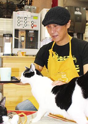お仕事図鑑 猫カフェにゃん太郎〜間 信博さん