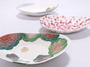 植物デザイン原画と陶磁器